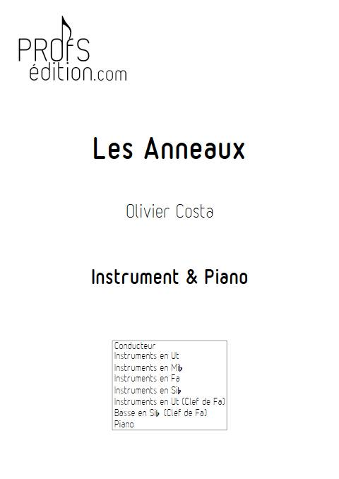 Les Anneaux - Instrument & Piano - COSTA O. - front page