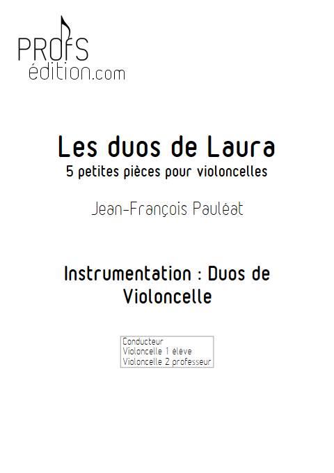 Les duos de Laura - Duo de Violoncelles - PAULEAT J.F. - front page