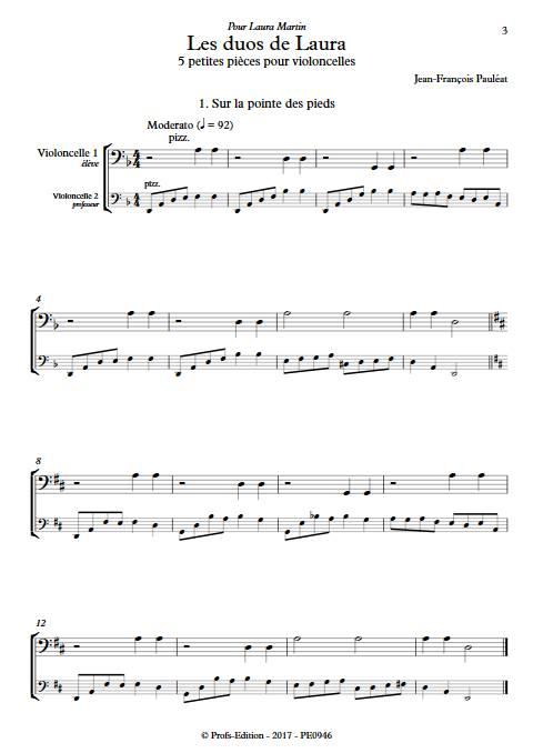 Les duos de Laura - Duo de Violoncelles - PAULEAT J.F. - app.scorescoreTitle