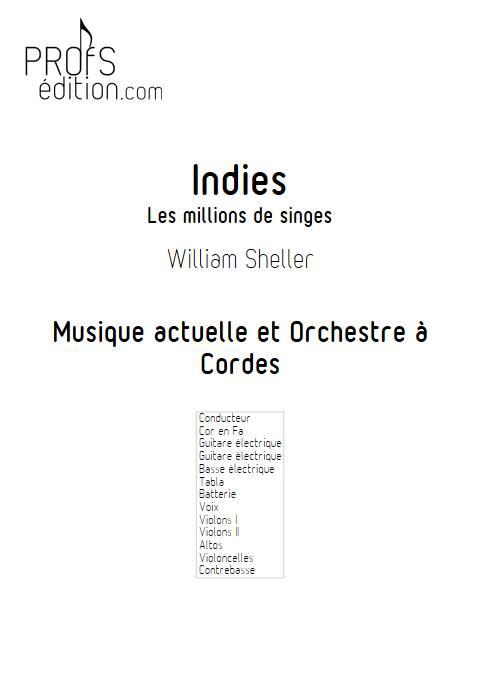 Indies, Les millions de singes - Musique actuelle et Orchestre à Cordes - SHELLER W. - front page