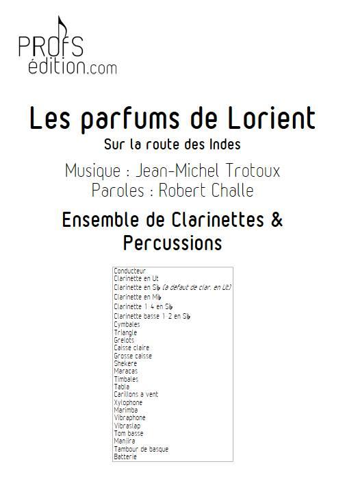 Les parfums de Lorient - Ensemble de Clarinette, Percussions & récitant - TROTOUX J-M. - front page
