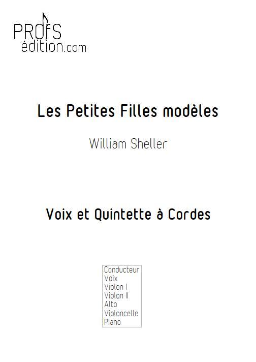 Les Petites Filles modèles - Chant et Quintette à Cordes - SHELLER W. - front page