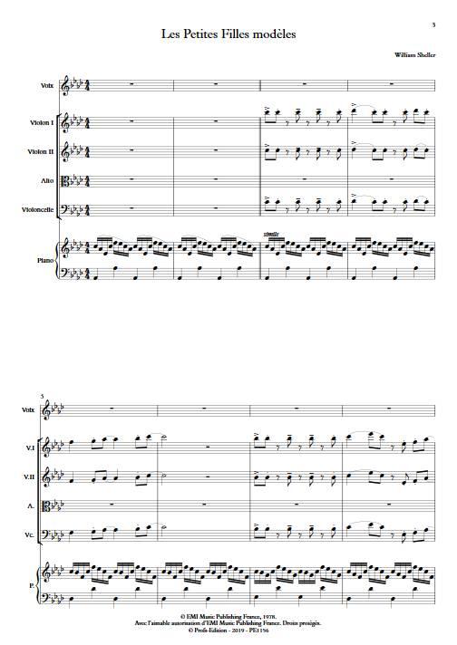 Les Petites Filles modèles - Chant et Quintette à Cordes - SHELLER W. - app.scorescoreTitle