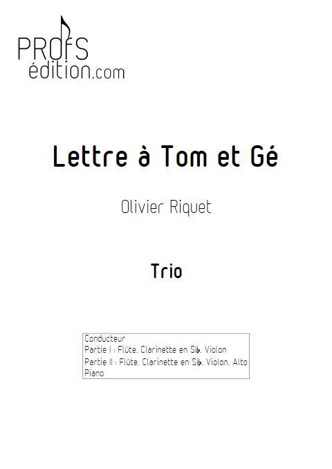 Lettre à Tom et Gé - Trio - RIQUET O. - front page