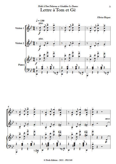 Lettre à Tom et Gé - Trio - RIQUET O. - app.scorescoreTitle