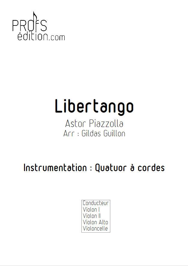 Libertango - Quatuor à Cordes - PIAZZOLLA A. - front page