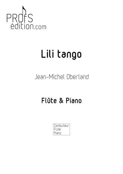 Lili tango - Flûte & Piano - OBERLAND J-M. - front page