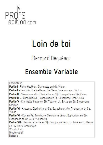 Loin de toi - Ensemble Variable - DEQUEANT B. - front page