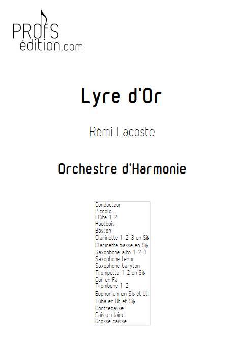 Lyre d'or - Orchestre d'Harmonie - LACOSTE R. - front page