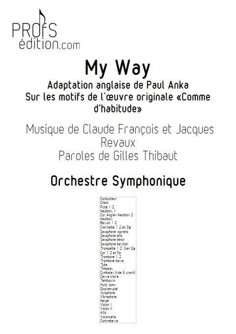 My Way - Orchestre Symphonique - FRANCOIS C. - front page