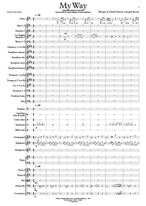 My Way - Orchestre Symphonique - FRANCOIS C. - app.scorescoreTitle
