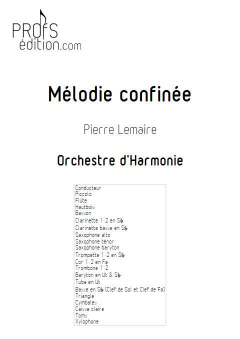 Mélodie confinée - Orchestre d'harmonie - LEMAIRE P. - front page