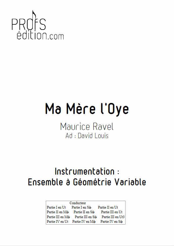 Pavane de la belle au bois dormant (Ma mère l'Oye) - Ensemble Géométrie Variable - RAVEL M. - front page