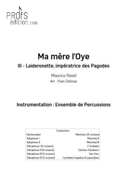 Laideronnette - Ensemble Percussions - RAVEL M. - front page