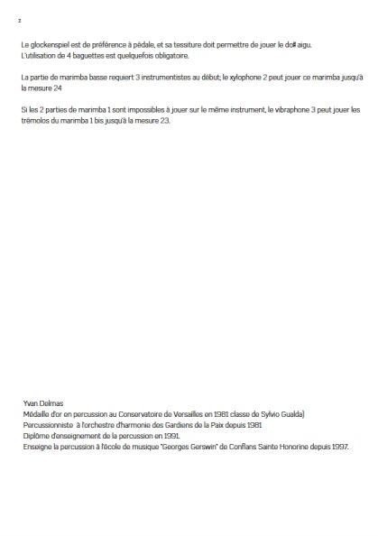 Laideronnette - Ensemble Percussions - RAVEL M. - Educationnal sheet
