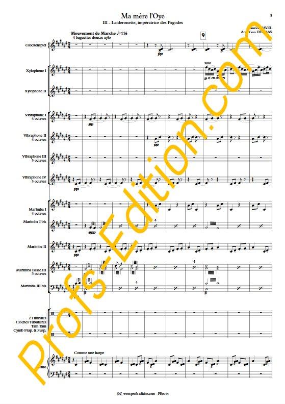 Laideronnette - Ensemble Percussions - RAVEL M. - app.scorescoreTitle