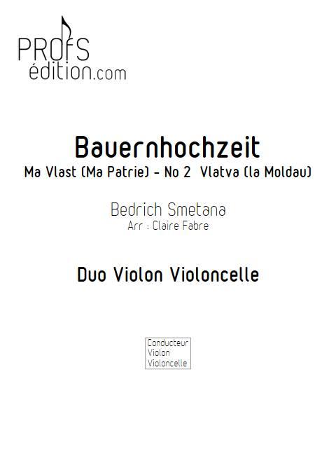 Ma Vlast - Violon Violoncelle - SMETANA B. - front page