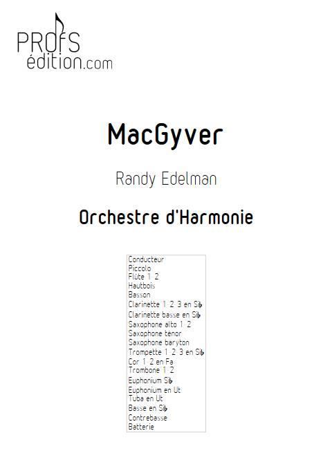MacGyver - Orchestre d'Harmonie - EDELMAN R. - front page