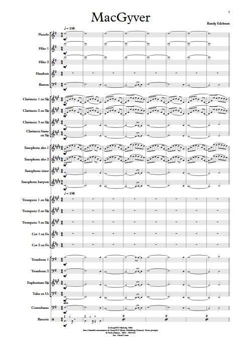 MacGyver - Orchestre d'Harmonie - EDELMAN R. - app.scorescoreTitle