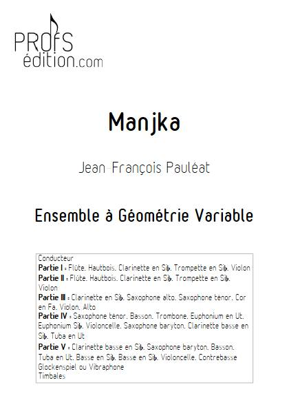 Manjka - Ensemble Variable - PAULEAT J. F. - front page