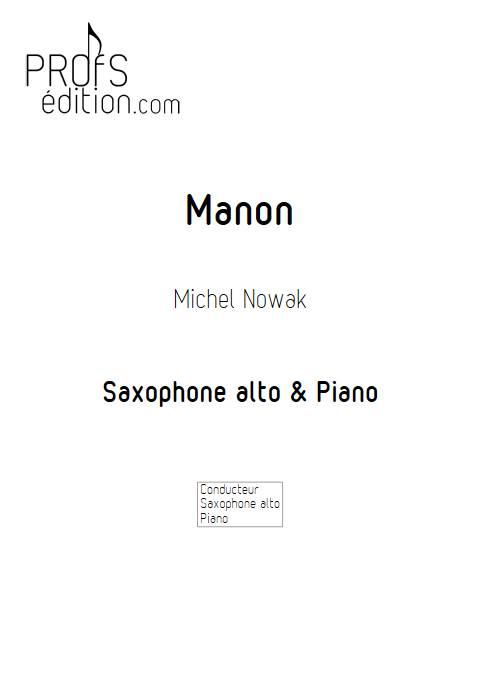 Manon - Saxophone & Piano - NOWAK M. - front page