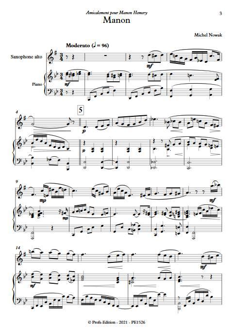 Manon - Saxophone & Piano - NOWAK M. - app.scorescoreTitle