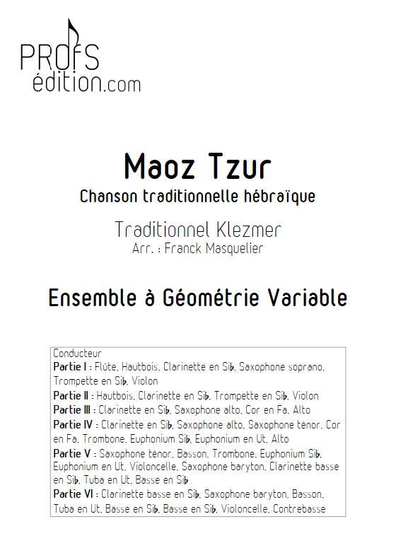 Maoz Tzur - Ensemble variable - TRADITIONNEL KLEZMER - front page
