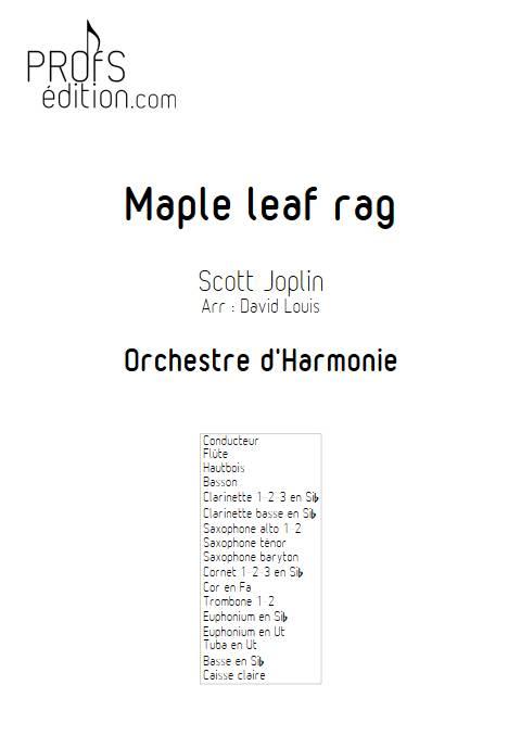 Maple leaf rag - Orchestre d'Harmonie - JOPLIN S. - front page