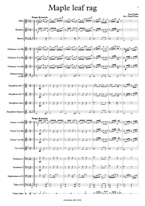 Maple leaf rag - Orchestre d'Harmonie - JOPLIN S. - app.scorescoreTitle