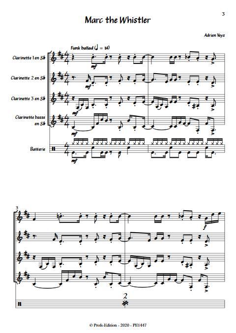 Marc the Whistler - Quatuor de Clarinettes - VEYS A. - app.scorescoreTitle