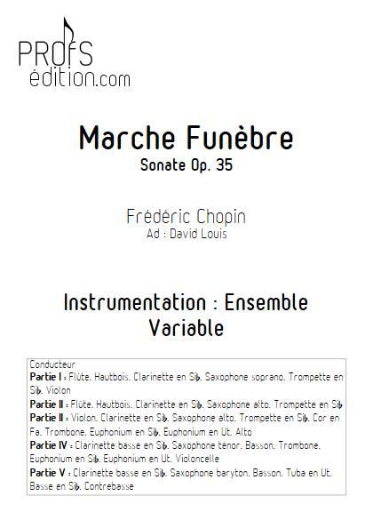 Marche Funèbre Op. 35 - Ensemble Variable - CHOPIN F. - front page
