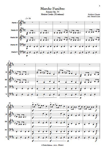 Marche Funèbre Op. 35 - Ensemble Variable - CHOPIN F. - app.scorescoreTitle