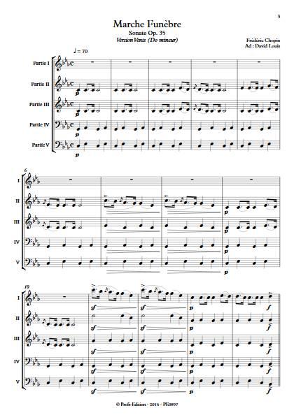 Marche Funèbre Op. 35 - Ensemble Variable - CHOPIN F. - Educationnal sheet