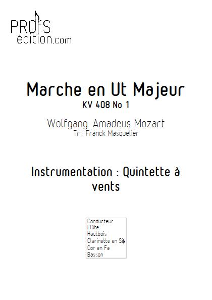 Marche KV 408 n°1 - Quintette à vents - MOZART W. A. - front page