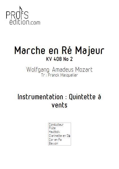 Marche KV 408 n°2 - Quintette à vents - MOZART W. A. - front page