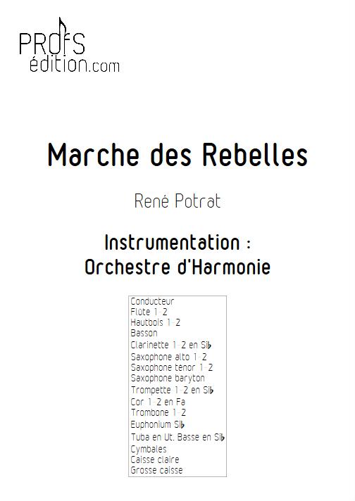 Marche des Rebelles - Orchestre d'Harmonie - POTRAT R. - front page