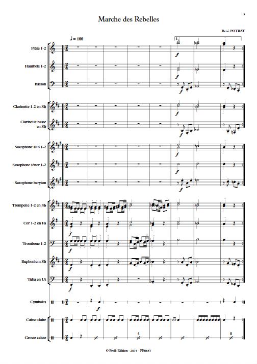 Marche des Rebelles - Orchestre d'Harmonie - POTRAT R. - app.scorescoreTitle