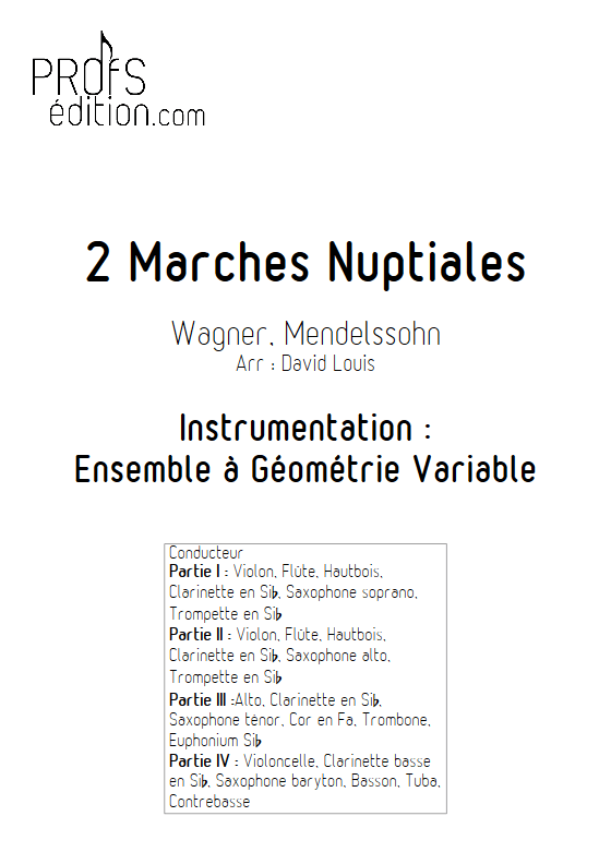 2 Marches Nuptiales - Ensemble à Géométrie Variable - WAGNER & MENDELSSOHN - front page