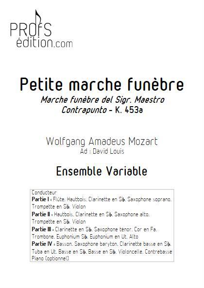 Marche Funèbre - Ensemble Variable - MOZART W. A. - front page
