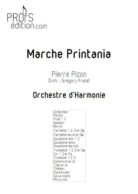 Marche Printania - Orchestre d'Harmonie - PIZON P. - front page