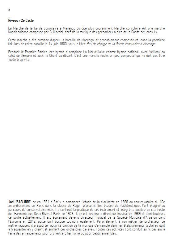 Marche consulaire- Ensemble Variable - GUILLARDEL - Educationnal sheet
