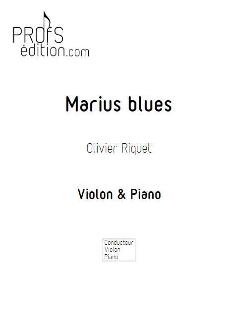 Marius blues - Violon Piano - RIQUET O. - front page