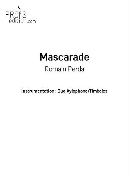 Mascarade - Duo Percussions - R. PERDA - Educationnal sheet