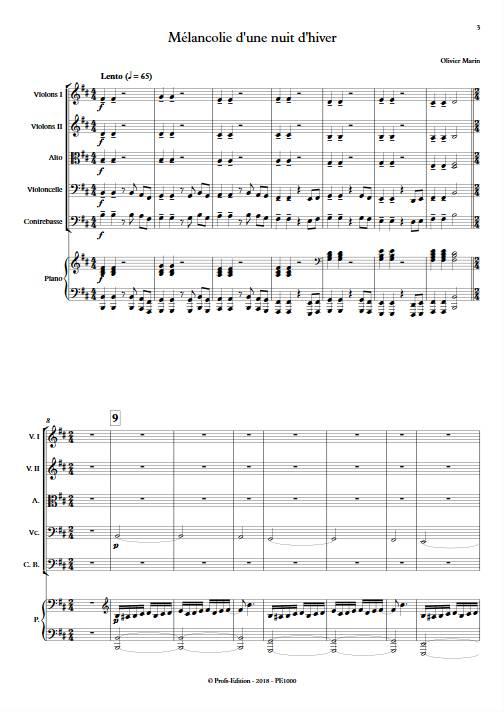Mélancolie - Orchestre Symphonique & Piano - MARIN O. - app.scorescoreTitle