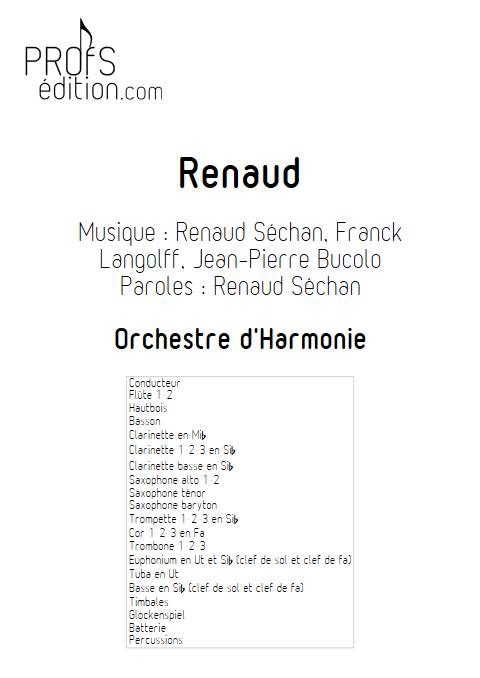 Renaud - Orchestre d'Harmonie - RENAUD - front page