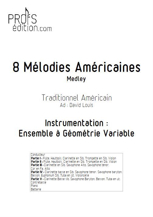 8 Mélodies Américaines - Ensemble à Géométrie Variable - TRADITIONNEL AMERICAIN - front page