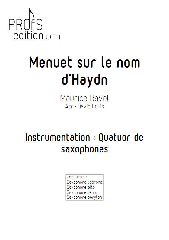 Menuet sur le nom d'Haydn - Quatuor de Saxophones - RAVEL M. - front page