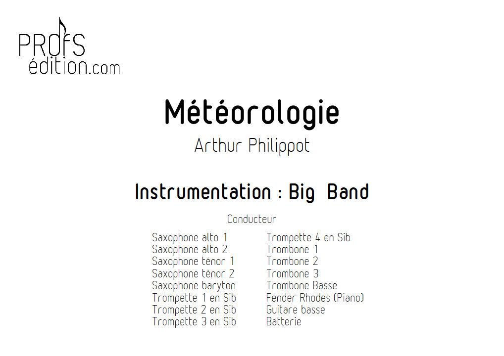 Météorologie - Big Band - PHILIPPOT A. - front page