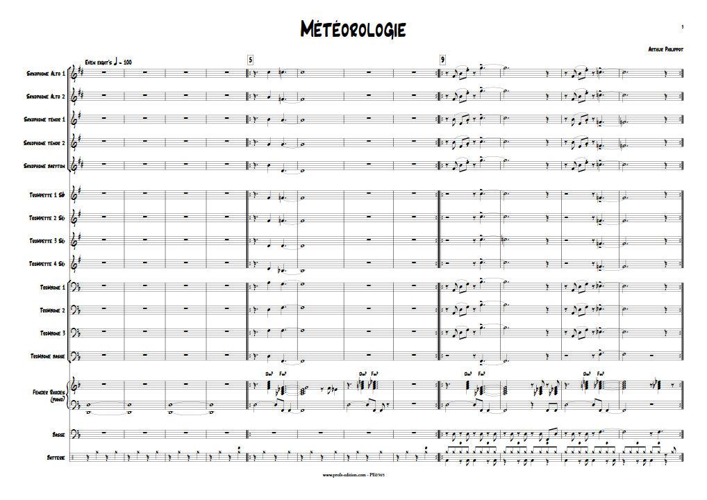 Météorologie - Big Band - PHILIPPOT A. - app.scorescoreTitle