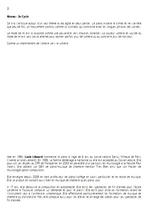 Mi Trio - Trio cordes - LIBOUREL L. - Educationnal sheet
